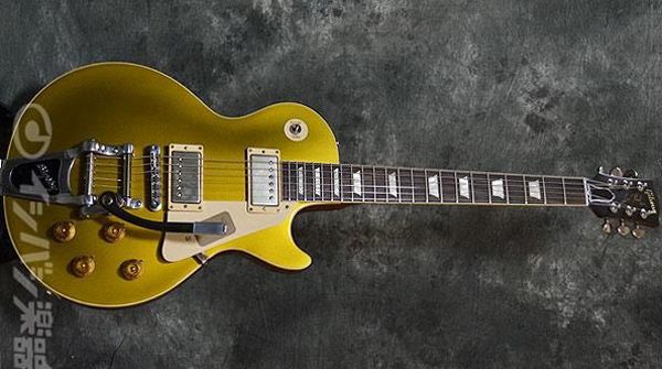 Historic Collection 1957 Les Paul Gold Top Reissue Bigsby VOS / Antique Gold (2013) 画像1