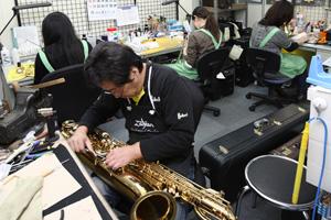 管楽器リペアセンター全体