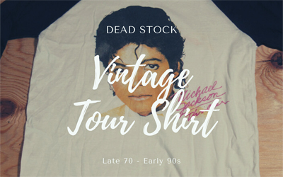 DEAD STOCK VINTAGE TOUR SHIRT