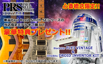 Paul Reed Smith SEシリーズ対象商品ご購入で豪華特典プレゼント!!