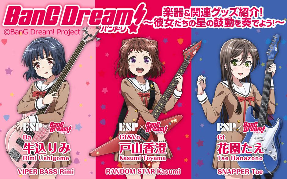 BanG Dream! (バンドリ!) 楽器&関連グッズ