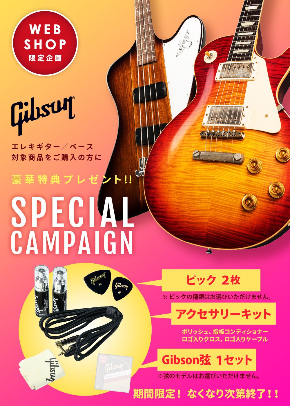Gibson SPECIAL CAMPAIGN【イシバシ楽器】