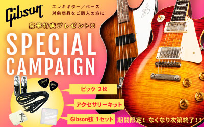Gibson | SPECIAL CAMPAIGN - 豪華特典プレゼント!