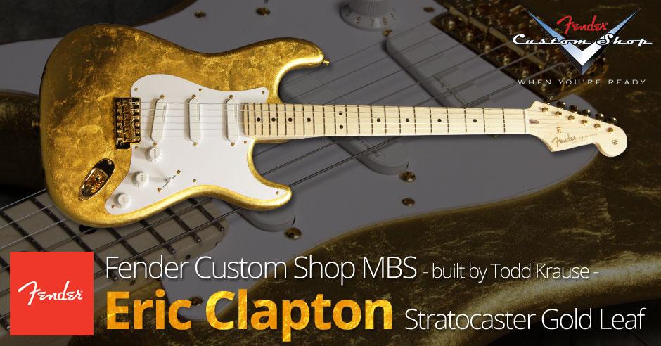 FENDER Eric Clapton Gold Leaf
