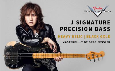Fender CS J (LUNA SEA) シグネチャーPRECISION BASS HEAVY RELIC BLACK GOLD