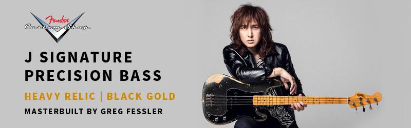 J SIGNATURE PRECISION BASS HEAVY RELIC BLACK GOLD MASTERBUILT BY GREG FESSLER