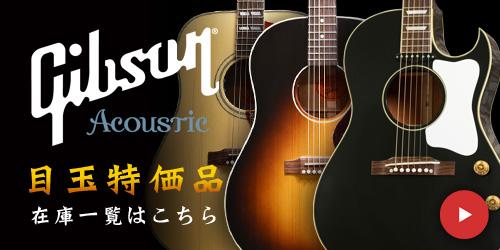 Gibson Acoustic 目玉特価品 在庫一覧はこちら