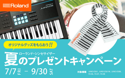 BRoland Synthesizer Summer Campaign