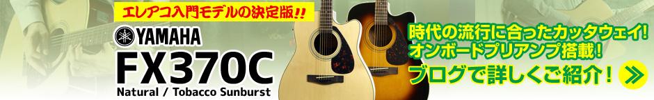 入門用エレアコの決定版!かっこいいカッタウェイ・ボディのYAMAHA FX370C NT/TBS